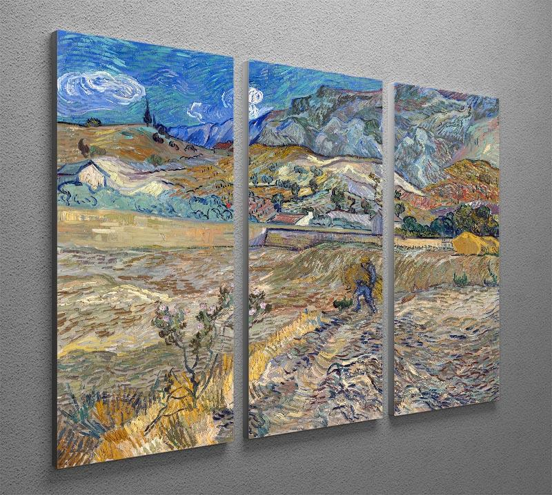 Enclosed Field with Peasant 3 Split Panel Canvas Print - Canvas Art Rocks - 4