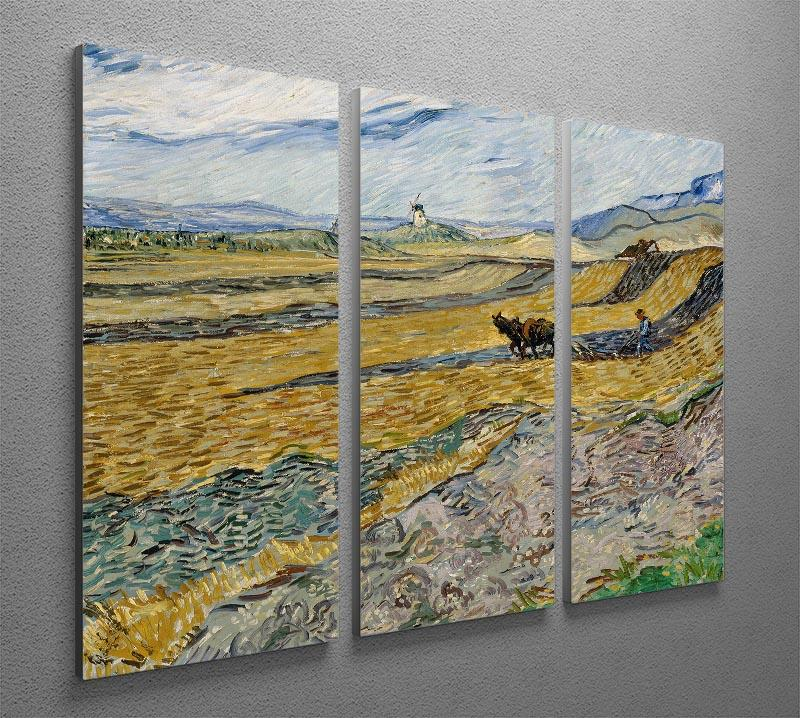 Enclosed Field with Ploughman 3 Split Panel Canvas Print - Canvas Art Rocks - 4