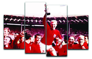 England World Cup 1966 4 Split Panel Canvas  - Canvas Art Rocks - 1
