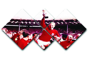 England World Cup 1966 4 Square Multi Panel Canvas  - Canvas Art Rocks - 1