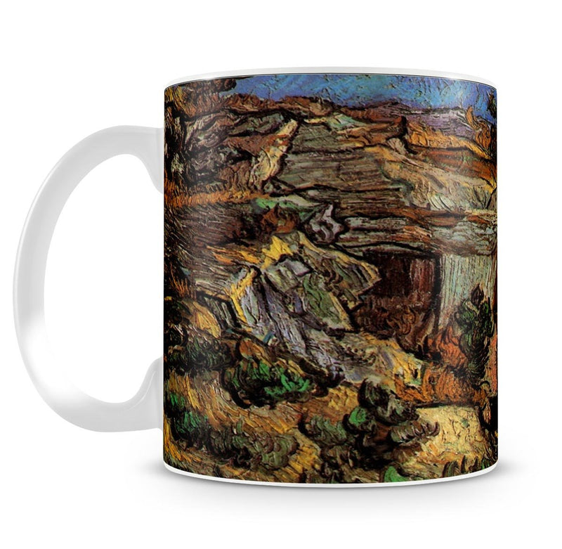 Entrance to a Quarry near Saint-Remy by Van Gogh Mug - Canvas Art Rocks - 4