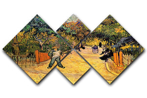 Entrance to the Public Park in Arles by Van Gogh 4 Square Multi Panel Canvas  - Canvas Art Rocks - 1