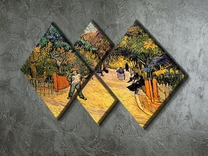 Entrance to the Public Park in Arles by Van Gogh 4 Square Multi Panel Canvas - Canvas Art Rocks - 2
