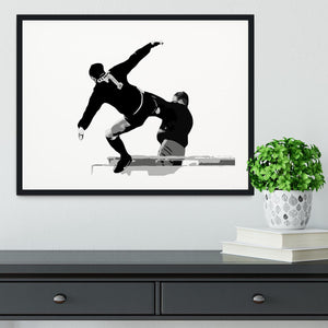Eric Cantona Kick Framed Print - Canvas Art Rocks - 1