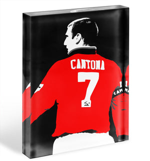 Eric Cantona No 7 Acrylic Block - Canvas Art Rocks - 1