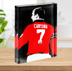 Eric Cantona No 7 Acrylic Block - Canvas Art Rocks - 2
