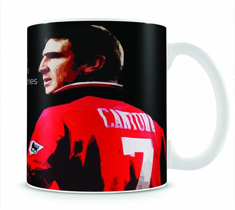 Eric Cantona Seagulls Mug - Canvas Art Rocks - 1