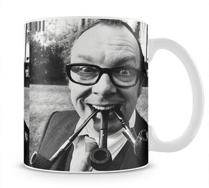 Eric Morecambe with three pipes in his mouth Mug - Canvas Art Rocks - 1