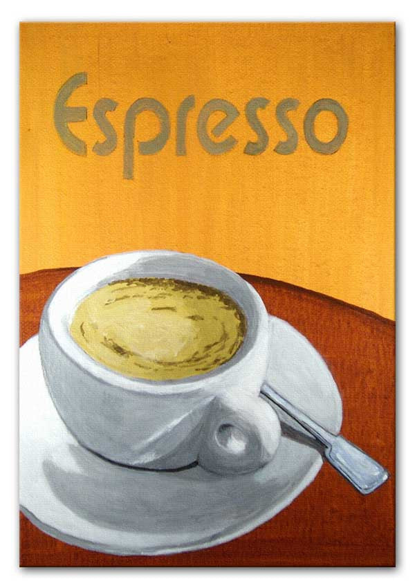 Espresso Coffee Cup Canvas Print or Poster