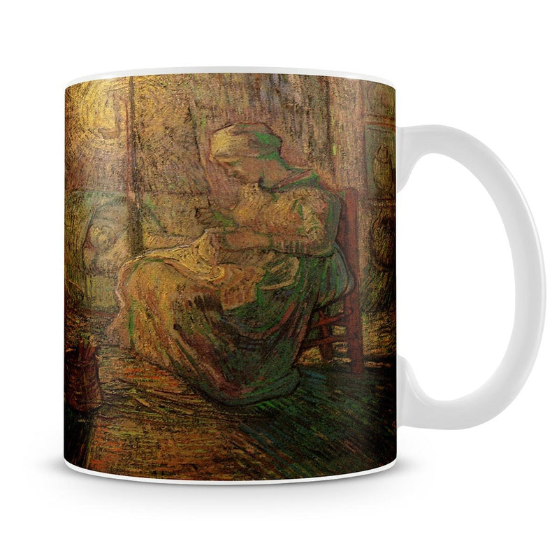 Evening The Watch after Millet by Van Gogh Mug - Canvas Art Rocks - 4