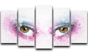 Eye Painting 5 Split Panel Canvas  - Canvas Art Rocks - 1