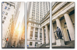 Facade of the Federal Hall 3 Split Panel Canvas Print - Canvas Art Rocks - 1