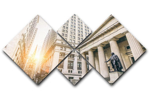 Facade of the Federal Hall 4 Square Multi Panel Canvas  - Canvas Art Rocks - 1