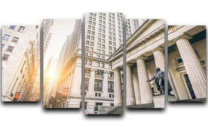 Facade of the Federal Hall 5 Split Panel Canvas  - Canvas Art Rocks - 1