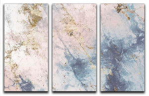 Faded Marble 3 Split Panel Canvas Print - Canvas Art Rocks - 1