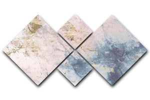 Faded Marble 4 Square Multi Panel Canvas - Canvas Art Rocks - 1