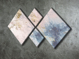 Faded Marble 4 Square Multi Panel Canvas - Canvas Art Rocks - 2