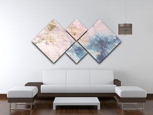 Faded Marble 4 Square Multi Panel Canvas - Canvas Art Rocks - 3