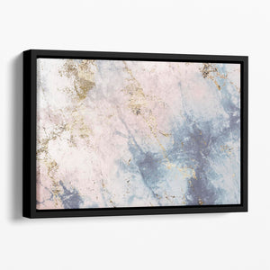 Faded Marble Floating Framed Canvas - Canvas Art Rocks - 1