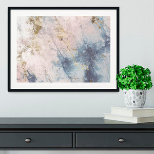Faded Marble Framed Print - Canvas Art Rocks - 1