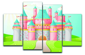 FairyTale castle illustration 4 Split Panel Canvas  - Canvas Art Rocks - 1