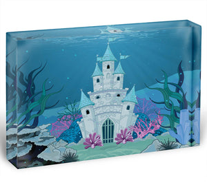 Fairy Tale Mermaid Princess Castle Acrylic Block - Canvas Art Rocks - 1