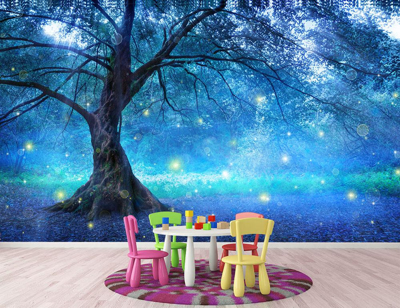 Fairy Tree In Mystic Forest Wall Mural Wallpaper - Canvas Art Rocks - 1