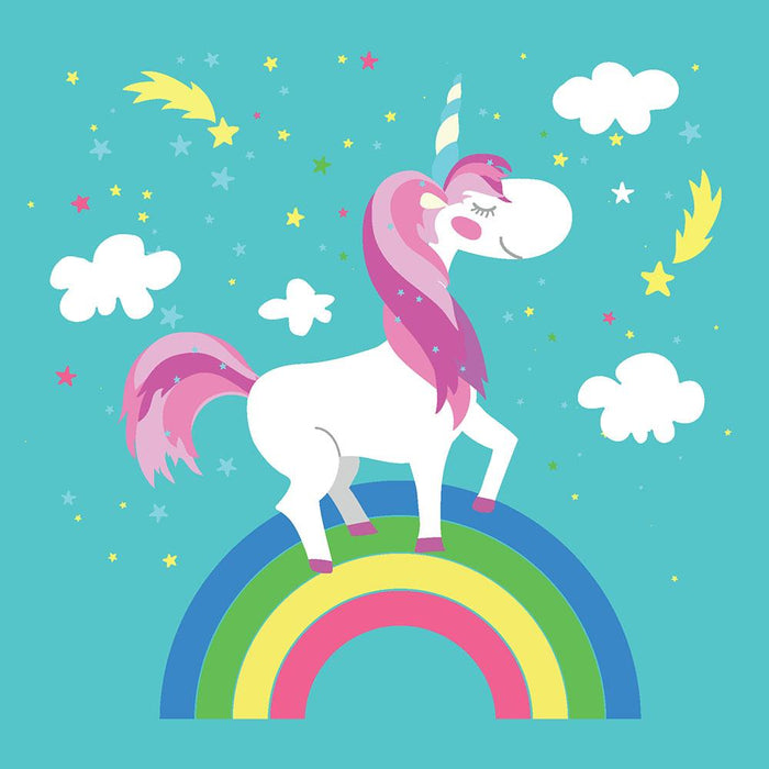 Fairy unicorn with rainbow Wall Mural Wallpaper