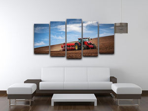 Farmer in tractor 5 Split Panel Canvas  - Canvas Art Rocks - 3