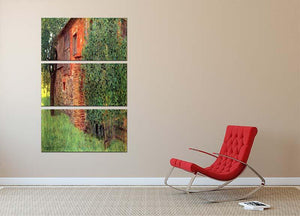 Farmhouse in Chamber in Attersee by Klimt 3 Split Panel Canvas Print - Canvas Art Rocks - 2