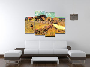 Farmhouse in Provence by Van Gogh 4 Split Panel Canvas - Canvas Art Rocks - 3