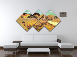 Farmhouse in Provence by Van Gogh 4 Square Multi Panel Canvas - Canvas Art Rocks - 3
