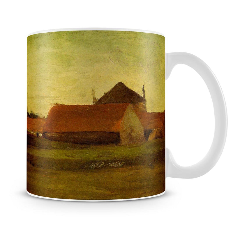 Farmhouses in Loosduinen near The Hague at Twilight by Van Gogh Mug - Canvas Art Rocks - 4