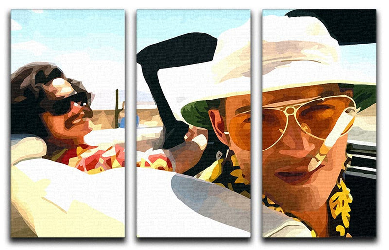 Fear and Loathing in Las Vegas 3 Split Panel Canvas Print - Canvas Art Rocks