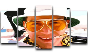 Fear and Loathing in Las Vegas Close Up 5 Split Panel Canvas  - Canvas Art Rocks - 1