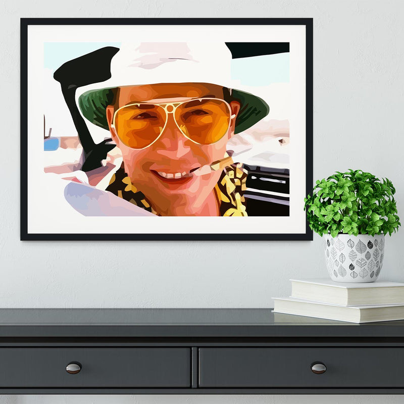 Fear and Loathing in Las Vegas Close Up Framed Print - Canvas Art Rocks - 1