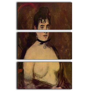 Female act by Manet 3 Split Panel Canvas Print - Canvas Art Rocks - 1