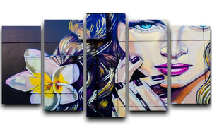Femme Fatale Graffiti 5 Split Panel Canvas  - Canvas Art Rocks - 1