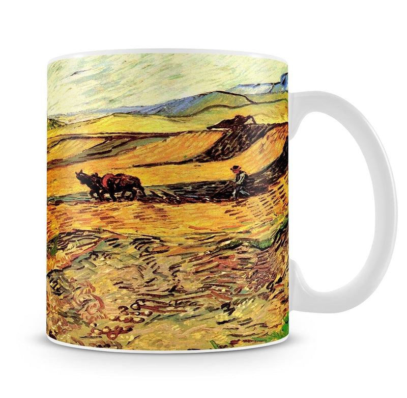Field with Ploughman and Mill by Van Gogh Mug - Canvas Art Rocks - 4