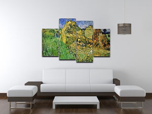 Field with Wheat Stacks by Van Gogh 4 Split Panel Canvas - Canvas Art Rocks - 3