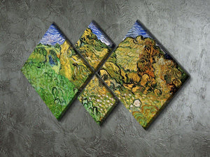 Field with Wheat Stacks by Van Gogh 4 Square Multi Panel Canvas - Canvas Art Rocks - 2