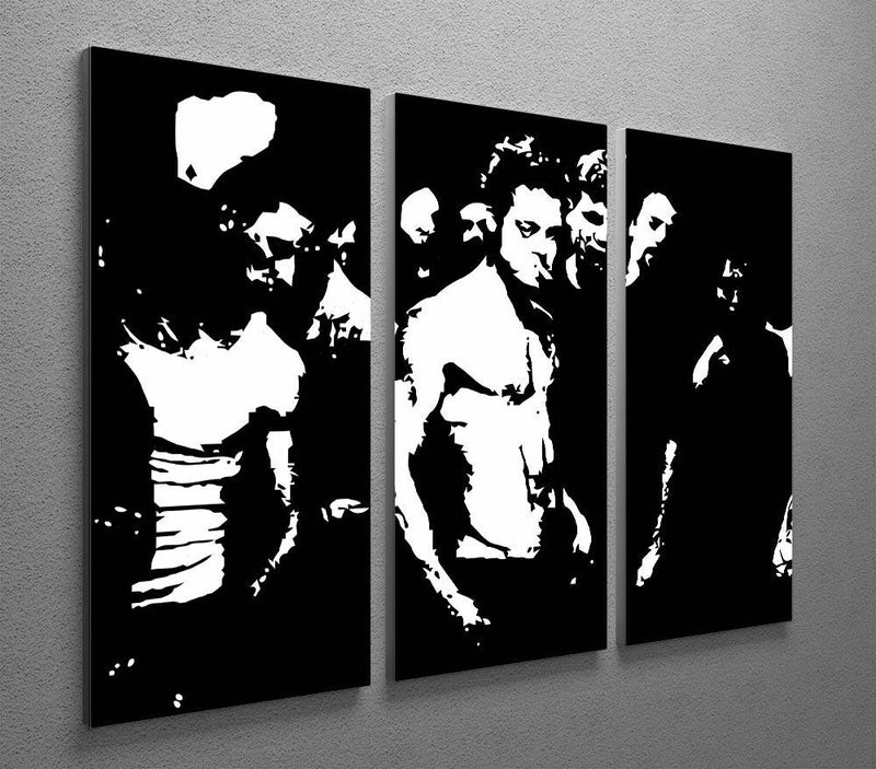 Fight Club 3 Split Panel Canvas Print - Canvas Art Rocks - 4