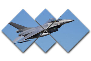 Fighter jet flyby 4 Square Multi Panel Canvas  - Canvas Art Rocks - 1