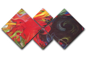 Fighting forms by Franz Marc 4 Square Multi Panel Canvas  - Canvas Art Rocks - 1