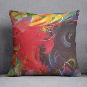 Fighting forms by Franz Marc Cushion