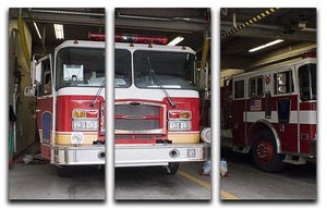 Fire Truck 3 Split Panel Canvas Print - Canvas Art Rocks - 1