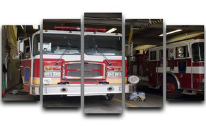 Fire Truck 5 Split Panel Canvas  - Canvas Art Rocks - 1