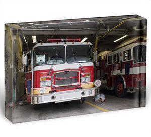 Fire Truck Acrylic Block - Canvas Art Rocks - 1