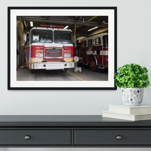 Fire Truck Framed Print - Canvas Art Rocks - 1