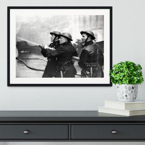 Firefighters morning after air raids London Framed Print - Canvas Art Rocks - 1